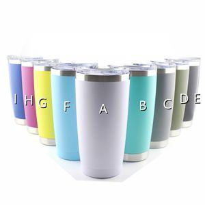 20 oz Stainless Steel Tumbler mug Double Wall Wine Glass Thermal Cup Insulated Coffee Beer Mug With lid Travel Coffee Mugs