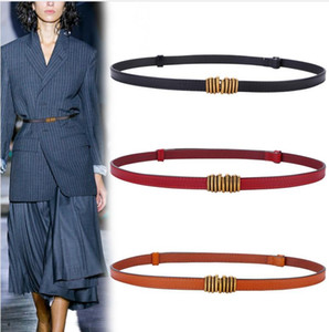 Women's Narrow Belt Decoration Suit PU Leather Belt for Women Skirt Sweater Coat Belt Adjustable PD002