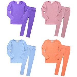 KT INS Toddler Kids Toddler Girls Pajamas Clothing Suits Spring Winter Sleepwear Cotton Knitted Cotton Unisex Chidlren Homewear