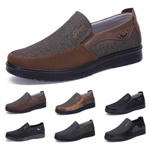 low Fashion Business style mens shoes comfortable breathable black brown burgundy dlive coffee soft flats bottoms men office split casual sneakers 38-44