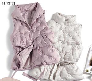 Luzuzi sonbahar kış kadın yelek ceket kolsuz ceket 90% beyaz ördek aşağı kadın sıcak yelek chaleco mujer jile casaco feminino