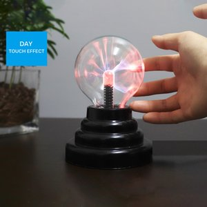 Novelty Plasma Ball Magic Moon Lamp USB Electrostatic Sphere Light Bulb Touch Nightlight Home Decoration Accessories Christmas Kids Gift
