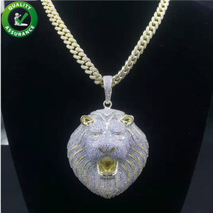 Hip Hop Bling Chains Jewelry Men Iced Out Pendant Luxury Designer Necklace Mens Gold Chain Pendants Diamond Cuban Link Rapper Fashion Lion