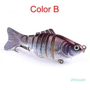 Fishing Lures Wobblers Swimbait Crankbait Hard Bait Artificial Fishing Tackle Lifelike Lure 7 Segment 10cm 15.5g 2508213