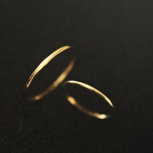 9k Solid Gold Stacking Minimalist Minimal Solitaire Ring Bride Bridesmaid Bff Couple Love Simple Gift Engagement