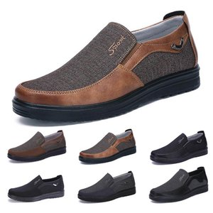 Fashion Business style mens shoes comfortable breathable deep black brown dark navy chocolate dlive soft flats bottoms men casual walking sneakers 38-44