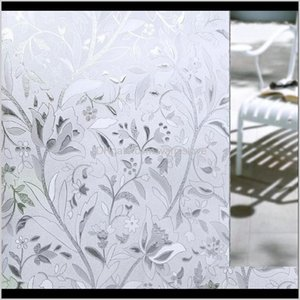 New 45*100Cm Uv Proof Static Cling Frosted Stained Flower Glass Window Film Sticker Privacy Home Decor Sw9Bj M3Ggh