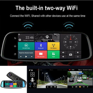 "New!! Car dvr 8"" HD 4G Touch GPS Bluetooth WIFI Dual Lens DVR Car Video Recorder Dash Camera"