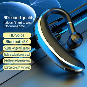 Wireless Bluetooth Earphones Headphone T200 Handsfree Noise Cancelling Earphone Business Headset Voice Control with Mic for Driver Sport Earbuds