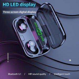 Наушные наушники M5 New TWS Bluetooth 5.1 гарнитура беспроводных наушников спортивный мини водонепроницаемый OEM 9D стерео наушники для смартфона