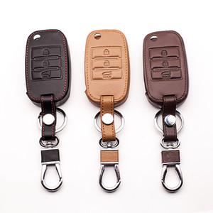 New design leather key case keyboard cover For Kia Rio QL Sportage Ceed Cerato Sorento K2 K3 K4 K5 Fin Key Chain car key case