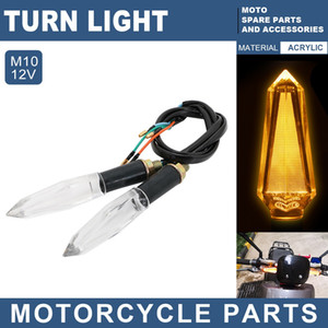 12V Motorcycle LED Turn Signal Light Lamp Front Fog Tail Lihgt Hulb Yellow Lights Motorcycle Accessories