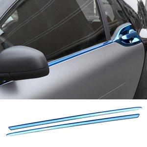 Paslanmaz Çelik Araba Pencere Trim Exterior Dekoratif Şerit Mercedes Smart15-18 453 Fortwo Araba Dış Dekorasyon Aksesuarları