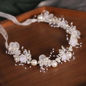 Hair Clips & Barrettes Pearl Bridal Headpieces With Ribbon Handmade Simple Wedding Headband Accessories For Party ML