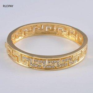 Wholesale Dubai Bangle Jewelry Gold Color Etiopian para las mujeres African Arab Regalo Artículos Para Nupcial