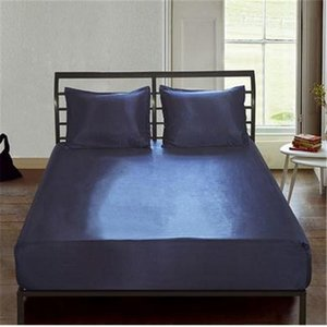 Fitted Sheet New Elastic Sheets Polyester Waterproof Solid Bed Sheets Fashion Home Textile Mattress Bed Cover Protector Hot Sale