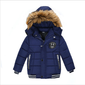 New Hot Sale Fashion Boys Down Coats Autumn Winter Kids Hooded Warm Jackets Cotton Children Outwear Windbreaker Boys Jacket