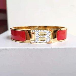 2021 diseño de moda mujer pulsera de acero inoxidable joyería boda brazaletes 18k oro esmalte brazaletes h love memoria damas regalo