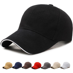 2021 Unisex Cap Plain Color Washed Cotton Baseball Cap Men Women Casual Adjustable Outdoor Trucker Snapback Hats Dad Hats