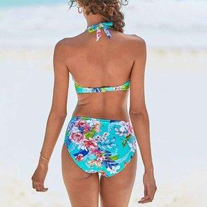 SAGACE Swimsuit Women Summer Backless Sexy Floral Printed Swimwear Bikini Casual Thong Bathing Suit Beachwear Drop Ship 2020 New