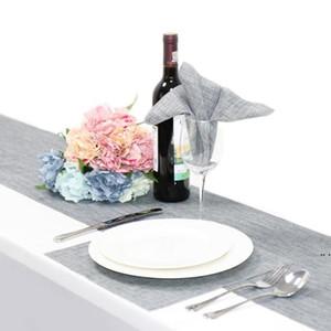 """12 """"guardanapo de mesa de guardanapo de linho Poliéster Bolso quadrado Handkerchief Tabela de cetim Jantar guardanapos para casamento Decoração da festa da casa DHD5174"""