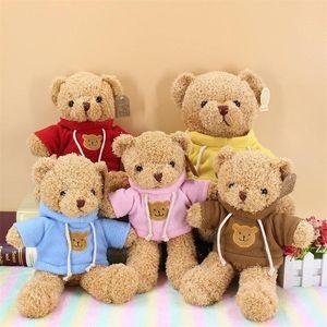 30cm Belle Ours en peluche doux poupées poupées poupées jouet animaux peluche poupée poupée apaisante PP coton enfants jouets Valentine Day cadeau HWF7486