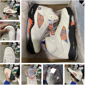 top quality factory Outlet 5 V Mens White Cement Men 5S Shoes suede Olympic Gold OG Fire Red Sports Sneakers 40-46