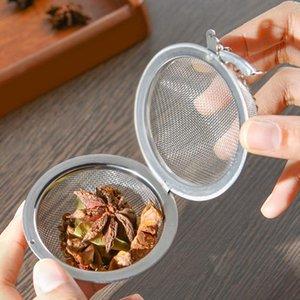 Çay Demlik Paslanmaz Çelik Kilitleme Çay Pot Demlik Kullanımlık Küre Örgü Çay Süzgeçleri Mutfak Içme Aksesuarları Ball LLS546