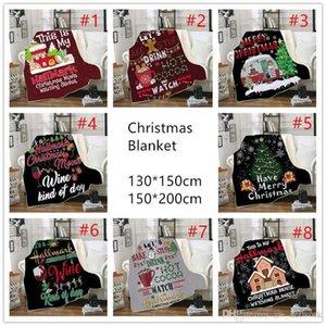 130 * 150 سنتيمتر عيد الميلاد بطانية للأطفال 3d الطباعة سميكة شيربا الصوف البطانيات لينة الدافئة أريكة رمي بطانية النوم لحاف بطانية