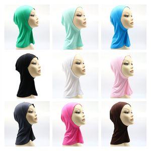 Home Textile Modal turban hijab monochrome mercerized cotton base cap 17 colors GWF10203