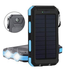 compass function and Flash light mobile power supply 8000MA solar panel Waterproof with DC USB output OEM And ODM service