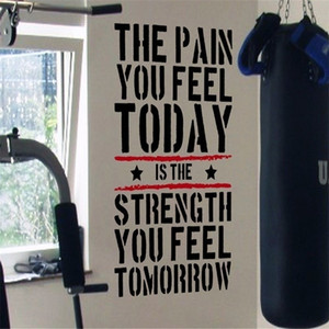 The Pain you Feel Today... Home Gym Motivational Decal Quote Fitness Strength Workout Stickers Wall Art For Kids Rooms Y200103