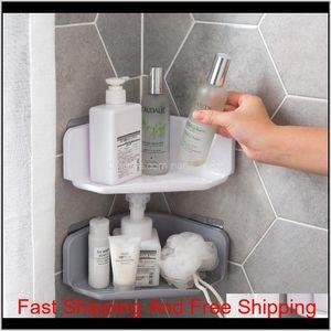 Corner Drain Shelves Bathroom Storage Rack Bathroom Punch- Powerful Wall-Mounted Wash Shelf 1Ydvi Nxclr
