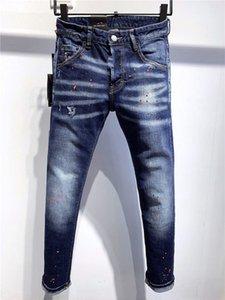 2021 DSQ NOUVEAU D2 Designers de luxe pour hommes Denim Jeans Trous Pantalons Pantalon Biker 9703