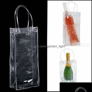 Buckets And Coolers Barware Kitchen, Dining Bar Home & Gardeg Wine Beer Champagne Bucket Drink Ice Bag Bottle Cooler Chiller Foldable Carrie