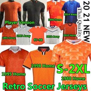 20 21 Niederlande Spieler Fußball Jerseys Retro Classic 1988 Van Basten Gullit Rijkaard 95 96 97 98 Holland Bergkamp Davids Fußballuniformen
