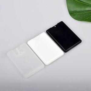 20ml Plastic Spray Perfume Box Card Moisturizing Clear Perfume Sprayer Bottle Refillable Perfume Spray Pump Black White Clear