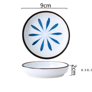 Ceramic Plate Home Kitchen Tableware Kitchen Dip Plate Small Vinegar Plate Soy Sauce Plates EWB5176