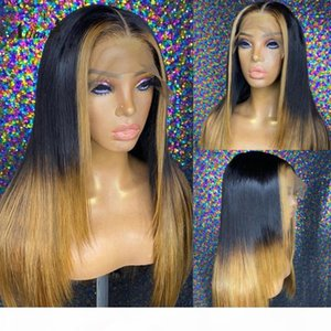 Atina Remy Pre Plucked Ombre Honey Blonde Human Hair Wigs Color HD Transparent Lace Part Wigs For Black Women Glueless 250% Full