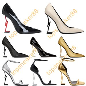 Women Dress Shoes Paris Luxurys Designers Red Bottom High-heeled Gold Black Golden 10cm Heels Shoe