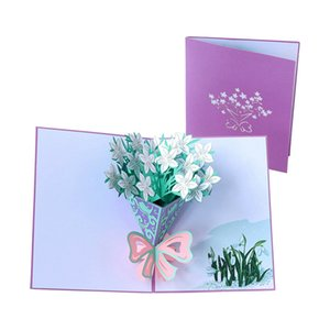 Mother's Day Card 3D Pop-Up Flowers Birthday Card Anniversary Gifts Postcard Mothers Father's Day Greeting Cards