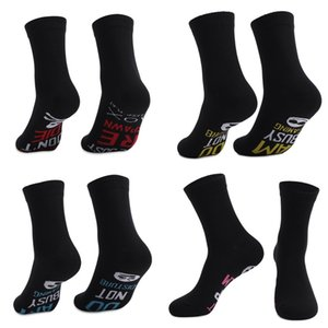 Letters Printed Black Socks Winter Sports Socks Soft Warm Cotton Crew Socks Unisex Long Stockings Middle Calf Sock H21802
