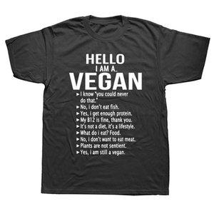 T-shirts Hommes Végétarien Je suis toujours un t-shirt végétalien Des hommes Demandez-vous Veganisme Droits drôles Tshirt Summer Tops