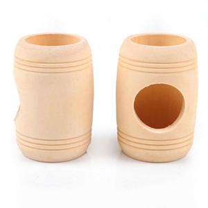 1 قطع خشبية منزل خشبي الهامستر لعبة صومعة الهامستر لعبة النبيذ برميل صغير بيت عش المنزل