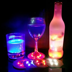 LED Light For Smoking Glass Water Pipe Cup Base Colorful 7 Colors Automatic Adjustment Home Decoration