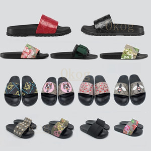 Gucci 2021 Platform Designer Rubber Slides Sandal Floral brocade Fashion Mens Gear bottoms Flip Flops Slippers Striped Womens Sandals Designers