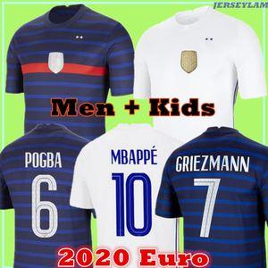 Mbappe futebol jersey euro 2020 copo grriezmann maillots de futebol camisa uniformes de la 2021 100th 100 anos homens + kit kit 777