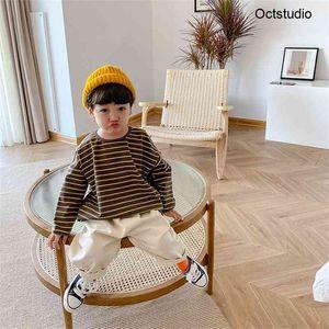 Niños de manga larga de manga larga para niños Casual Casual Cómodo Cuello redondo Tops 201222