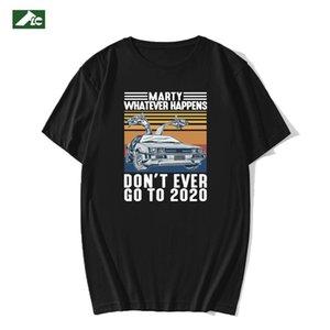 FLC T Shirt Homens Algodão Marty O que acontecer, nunca vá para engraçado Vintage homens roupas t-shirt de verão preto xs-3xl 210301