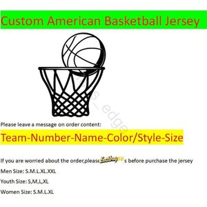 Custom American Basketball Jerseys All 32 Teams Customized Stitched Sewn On Any Name Any Number Xs-xxl Mix Order Men Women Kid Youth Jersey